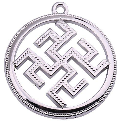 fishhook Wicca - Colgante de rueda de sol rectangular espiritual, accesorios para hombres y mujeres