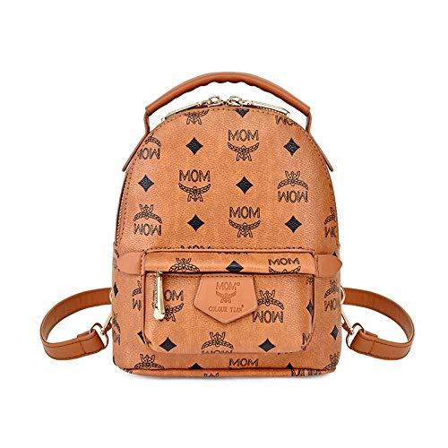 Ldyia Bag Frauen gedruckt Umhängetasche Handtaschen alte Blume Mini-Rucksack Multifunktions-Umhängetasche Kleiner Rucksack, gelb