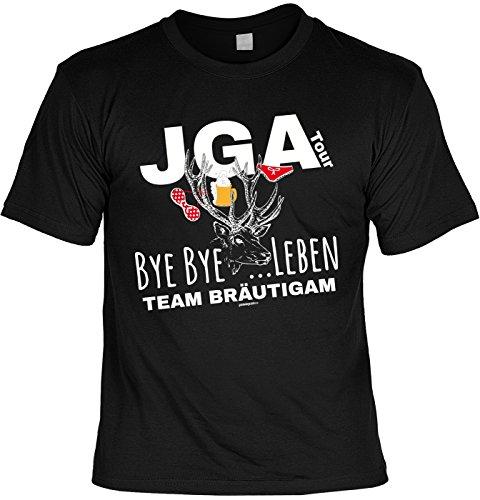 Junggesellen T-Shirt JGA Tour Bye Bye …Leben Team -