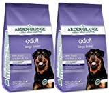 Arden Grange Multi Buy Large Breed Adult Dog Food 2 X 12kg Naturally Hypoallergenic With Fresh Chicken And Rice Flavor Combined With A Super Fun 6cm Trixie Rubber Ball with Throwing Handle