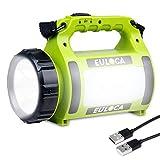 Euloca Lampe Torche Led Rechargeable Etanche 2600mAh Cree Led 3 en 1 Puissante  Lampe Camping Portable Lanterne Torche Câble Usb Inclus pour Randonnée