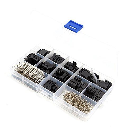 Diyi 620pcs 0,3cm Dupont Wellen-poliger Anschluss-Pin Header Draht Jumper und M/F CRIMP Pins -