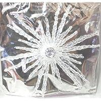 Fiocco di Neve Decorazione da appendere plastica trasparente effetto Ghiaccio diametro 15 cm- Natale - Frozen