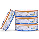 ChoiceRefill pour Poubelle a Couches Angelcare Lot de 4 pour 4-6 Mois Sac Poubelle Anti-odeurs compatible avec la Poubelle Angelcare PAIL, STEP, Complet, Elite, Eessential, Expression, Mini