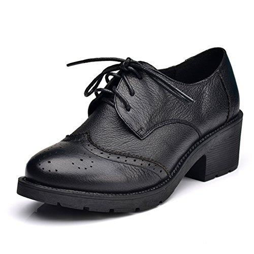 Lacets ronds avec des chaussures/ vent de cuir vintage Angleterre A