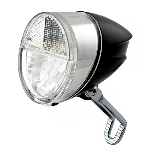 nean Fahrrad-Dynamo-CREE-LED-Licht-Lampe, Frontleuchte, mit Lichtautomatik, 75 Lux (Frontleuchte Cree Fahrrad)