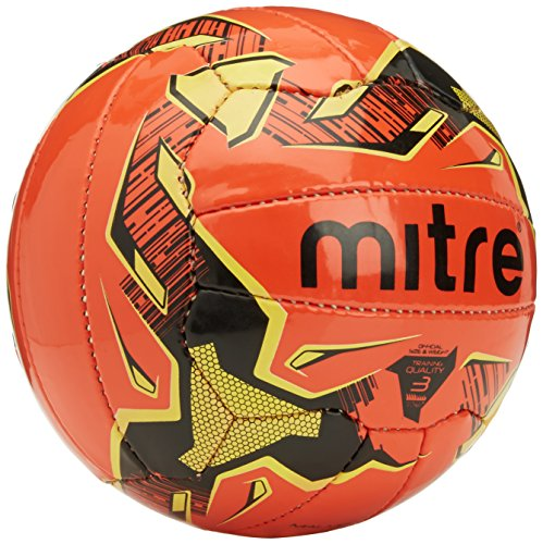 Mitre Malmo Training Football - Orange/Black/Yellow, Size 4