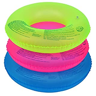 Artistic9 Inflatable Swim Ring Candy Colour Swimming Pool Float Ring Lake Beach Raft Swim Inflatable Floatation Ring Random Color (Inner diameter:20cm)