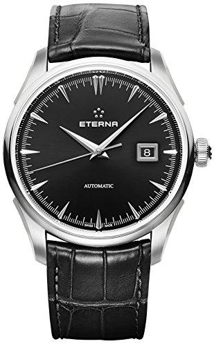 Eterna Legacy Herren Uhr analog Automatik mit Leder Armband 2951.41.40.1322