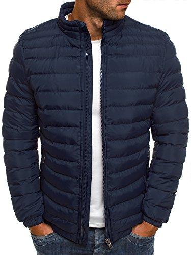 OZONEE Herren Hoodie Funktionsjacke Casual Zip Sportswear Modern Winterjacke Steppjacke Sweatjacke Wärmejacke Jacke Parka Gesteppt J.Boyz X1008K DUNKELBLAU XL