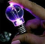 Set von 2 Stück kreative bunte Taschenlampen Neuheit LED Mini Birne Schlüsselanhänger Schlüsselanhänger