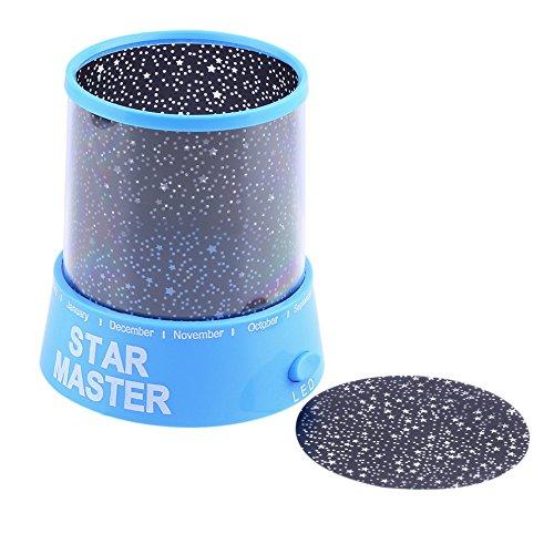 Generic Romantische Amazing Cosmos Moon Colorful Master Star Sky Universal Nachtlicht Kid hectorl Projektorlampe-Blau