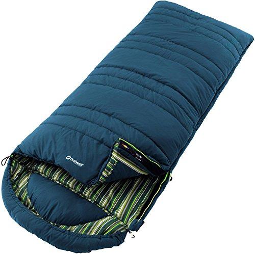 Outwell Erwachsene Camper Deckenschlafsack, Blau, 225 x 90 x 60 cm, 230080
