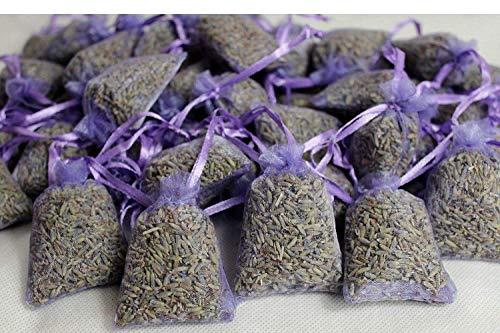20 bolsas de lavanda Provence | sabores aromáticos | ambientador | sueño calmante | relajación | repelente de polillas (5 x 7 cm)
