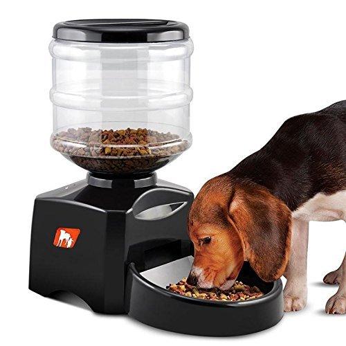Descripciones: Alimente el tiempo cuando esté ausente, y luego podrá rastrear y administrar la comida de su mascota todos los días. Con el alimentador, puede salir sin preocupaciones. Use el recordatorio de voz grabable de los alimentadores de mas...