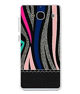 Fuson Designer Back Case Cover for Xiaomi Redmi 2S Prime :: Xiaomi Redmi 2 Prime (Yellow Flower Checks Lines Stencil)