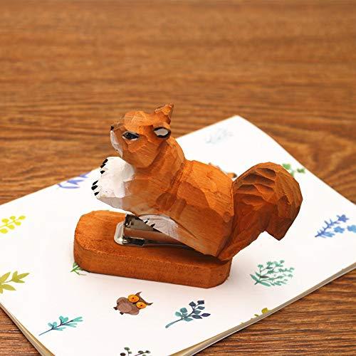 Hecho mano madera madera mini grapadora oficina creativos