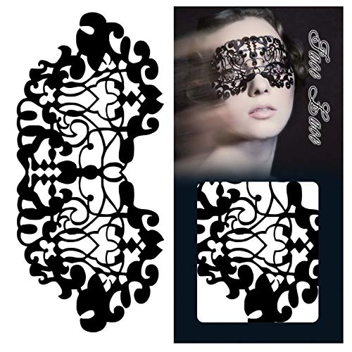 NOTE Paper-cut Mask Lace Eye Makeup Beautifully Patterned Face Stickers Halloween Masquerade Party Fashion Sexy Reusable (Halloween Eye Mask Make-up)