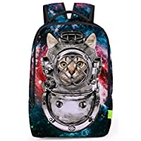 Pizoff Cute 3D Printing College Backpack High School Student Zipper Bag Rucksack Travel Laptop Backpacks Boys Girls
