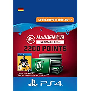 Madden NFL 19 Ultimate Team 2200 Points Pack – 2200 Points DLC | PS4 Download Code – deutsches Konto