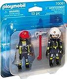 PLAYMOBIL 70081 Duo Pack DuoPack Feuerwehrmann und-Frau, bunt