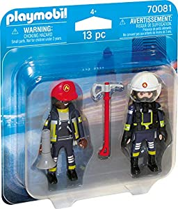 Playmobil 70081 Duo Pack Duo Pack Bombero y de Mujer, Multicolor