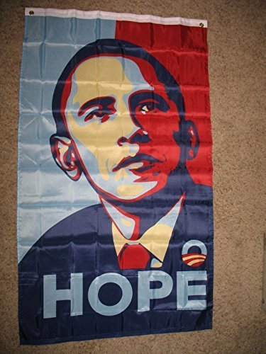 Obama Hope Flag Super Poly 5X3 3X5 Ft Flag Banner by Friend For Fun