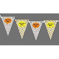 Fumetti Supereroi personalizzabile per festa di compleanno di bambini–Striscione con bandierine, decorazione, Clear, Grande - Compleanno Banner Misure