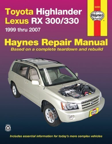 toyota-highlander-lexus-rx-300-330-1999-thru-2007-by-john-haynes-sep-1-2010