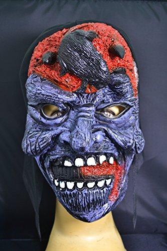 Smartfox Halloween Latex Maske - Gehirn