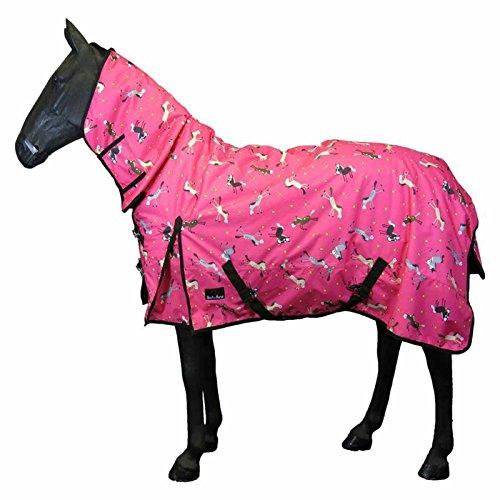 Manta de invierno para caballos, estable, ligera, con forro polar, tamaños de 1,4-2,1 m, Heavyweight Combo Rug, 4'6