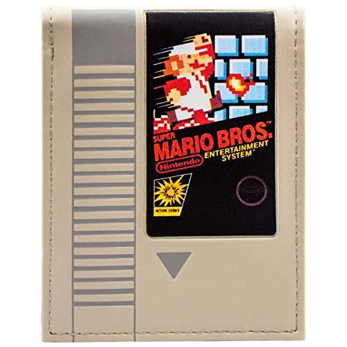 Super Mario Bros Retro NES Cartridge Grau Portemonnaie Geldbörse