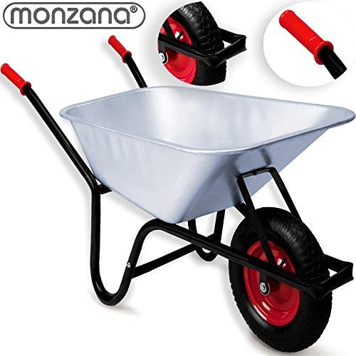 Monzana® Schubkarre 100 LITER ✔ Transportwagen Gerätewagen Gartenkarre ✔ bis 200kg Belastbarkeit ✔ Luftbereift ✔ geländegängiges Stollenprofil ✔ stabile Ausführung mit Aufliegewanne