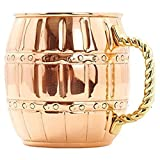 AsiaCraft 18 Oz Barrel Pure Copper Mug f...