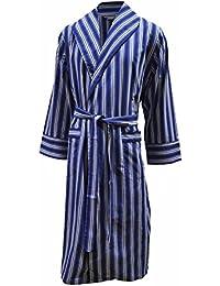 Robe de chambre légère 100% - rayé bleu / blanc - homme