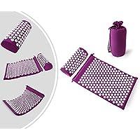 Leogreen - Akupressurmatte und Kissen-Set, Massage-Set für Zuhause, Lila, mit Tasche und Kissen, Standard/Zertifizierung... - preisvergleich