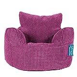 Lounge Pug, Kindersessel Sitzsack, Sitzsack Kinder, Pom-Pom Pink
