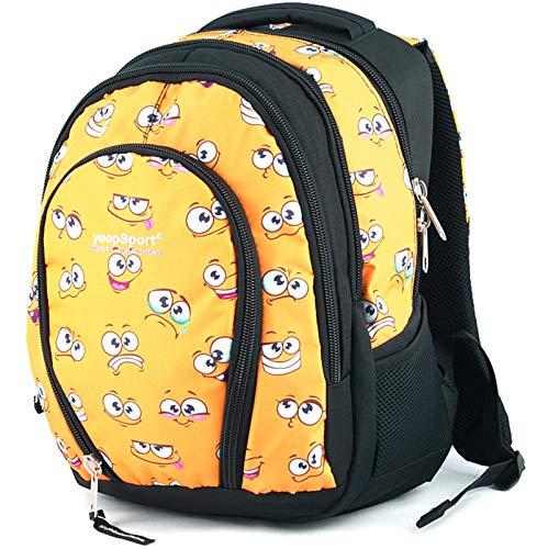 YeepSport Schulrucksack für Schule, Rucksack für Arbeit und Freizeit 30l, Jugendliche Mädchen und Jungs - 21812 Yellow Smile