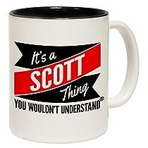 123t Tasses New C'est un Scott Thing vous n'aurait pas comprendre Slogan Tasse en céramique, Céramique, noir