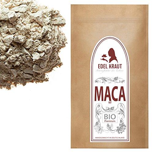 EDEL KRAUT | BIO ROTES MACA PULVER Premium Superfood 100% MACAWURZEL ROT 100g -