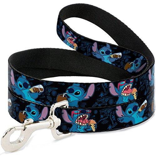 Buckle Down Walt Disney Filmen TV Stitch Zeigt, mit der Speisen Fun Animal Pet Hunde Katze Leine, Disney, 1 in Wide/6ft, Mehrfarbig
