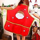 JUNMAONO 1 Stück Weihnachten Santa Claus Snowman Applikation Schürze Weihnachten Weihnachts Dekoration/Weihnachtsverzierung Geschenk für Kinder (Santa Claus)