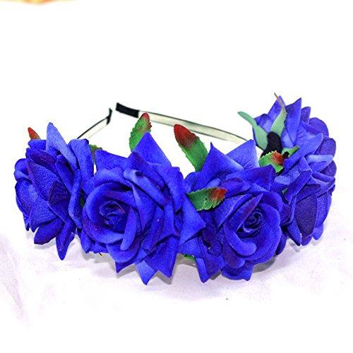 Amazing Fiore Corona Ghirlanda Fascia, per matrimonio ghirlanda floreale doppio per diversi colori