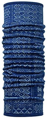 BUFF Wool Écharpe Multifonctionnel en Laine fin National Geographic Denim, bleu, one size