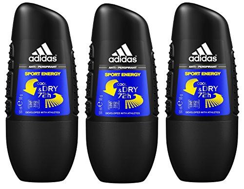 Adidas Men Desodorante Sport Energy roll-on Paquete