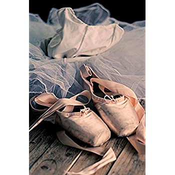 Chaussons de ballet roses avec tutu: Journal vide avec pages lignées
