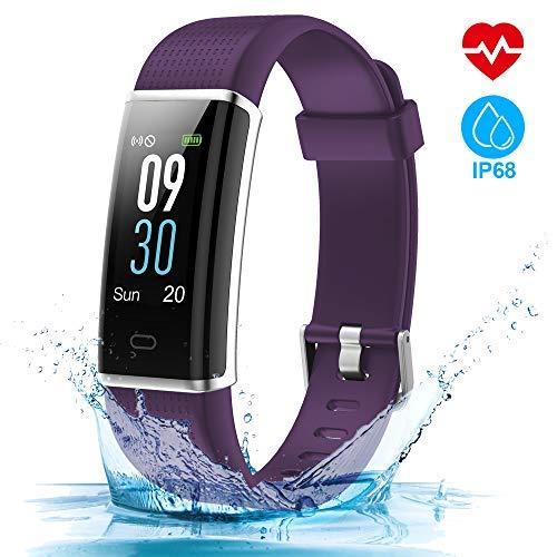 HOMSCAM Fitness Tracker Orologio Smartwatch Cardiofrequenzimetro da Polso Donna Uomo Impermeabile IP68 Schermo a Colori Smart Watch Fitness Braccialetto per iPhone Huawei Android iOS Smartphone