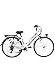 Bikevolution - City Bike 28'', Bicicleta de 6 velocidades para mujer, 44