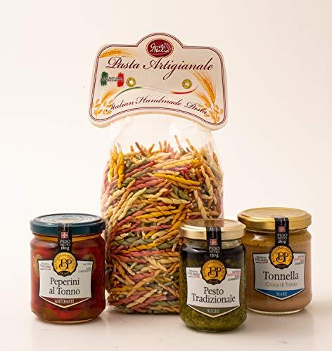 Liguria Gourmet Box. Italian Handmade Food. Pesto Sauce. Trofie Pasta. Ligurian Typical Foods. Food hampers. Food Gift.