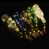 BizoeRade Flaschenlicht,6 Stück 39inch 20 LED Warmweiß Kupferdraht Lichter String Starry LED Lichter für Flasche DIY, Party, Dekor, Weihnachten, Halloween, Hochzeit oder Stimmung Lichter - 4